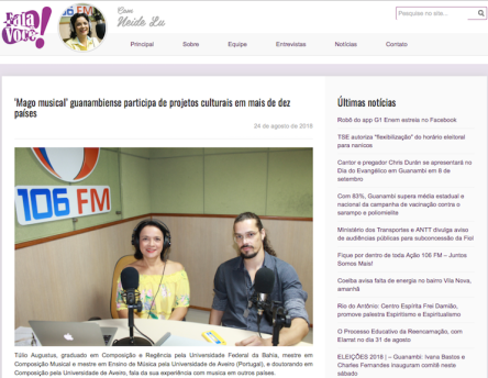 Túlio Augusto_Fala Voce_Neide Lu_Radio